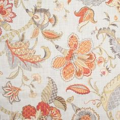 Spice Asian-Inspired Floral Heavyweight Cotton Woven Print
