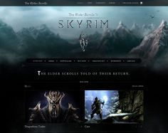 Game Website Example News Sites, Elder Scrolls, Skyrim, Layouts, Web Design, Website, Game, Design Web, Gaming
