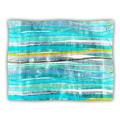 Kess InHouse Frederic LevyHadida Fancy Stripes Aqua Pet Blanket 40 by 30Inch *** Visit the image link more details.