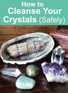 Crystal Healing Guide: How to Cleanse Crystals Safely. Five methods that don\'t use water or salt! Click image to read the blog post. Crystal Tips and Crystal Healing Guide #crystals