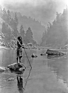 Salvage ethnography is a branch ethnography and anthropology concerned with the practice of capturing a record of what was left of a culture before it disappeared. A pioneer of salvage ethnography was Edward Curtis, with his early 20th century photographs of American Indian traditional life, such as this Hupa fisherman.  Photo credit: Edward Curtis