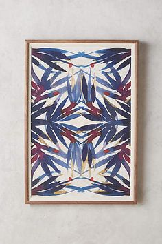 Anthropologie Sapphire Frond Wall Art #anthrofave #anthrohome #affiliate