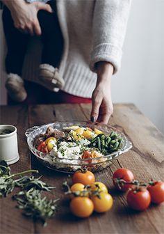 Salade de quinoa à la niçoise Quinoa Salat, Seafood Recipes, Gourmet Recipes, Orzo Risotto, Clean Recipes, Healthy Recipes, Healthy Food Alternatives, Savory Salads, Cucina