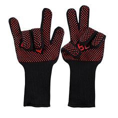 Oven Gloves OUTAD Extreme Cool  Heat Resistant Unslip BBQ Grilling Cooking Gloves for Oven baking Cooking Barbeque Smoking Home and Kitchen Tools *** Read more  at the image link.Note:It is affiliate link to Amazon.