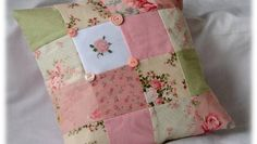 Vintage Cushion Cover with Cross Stitch Motif | Busymitts