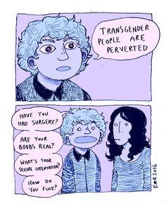 LGBT | LGBTQ+ | Trans | Transgender | Transpeople | comic | pervert