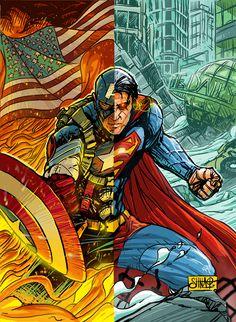 Captain America/Superman by Heri-Shinato (Herimaholy Randriamasinoro)