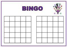 Tomma bingobrickor - låt eleverna fylla sin egen bricka med tal. Bingo, Playing Cards, Pdf, Coding, Education, Math, Games, School Ideas, Halloween