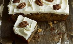 Recipe: Carrot cake traybake