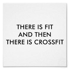 Don't just get fit, get #crossfit
