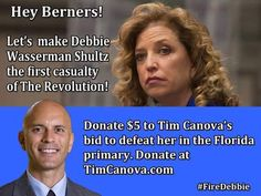Tim Canova has endorsed Bernie Sanders. He agrees with Bernie's Plan. Let's help him get elected - we need more like-minded people in office! #feelthebern