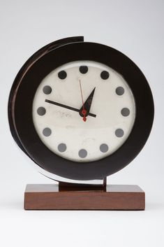 Rare Model 4084 Gilbert Rohde Clock for Herman Miller, introduced at 1934 Chicago World's Fair.