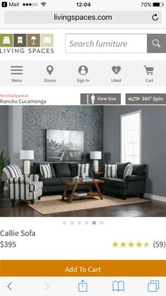 Living Spaces, Accent Chairs, Sofas, Room, Furniture
