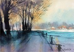 Memories of a Place I've Never Been by Thomas W. Schaller Watercolor ~ 10 inches x 14 inches