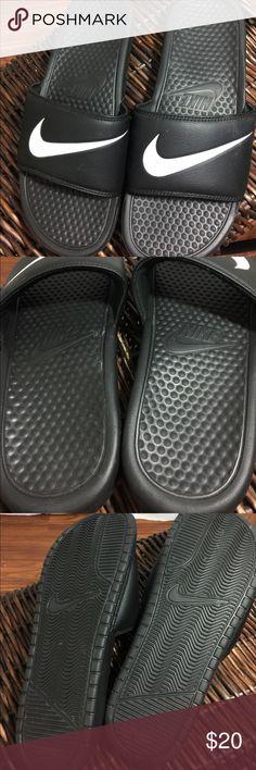 Like New Nike slip on sandals Like New Nike slip on sandals Nike Shoes Sandals & Flip-Flops
