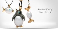 Our zoo collection! Vanity, Pearl Earrings, Pearls, My Favorite Things, Collection, Jewelry, Dressing Tables, Jewellery Making, Lowboy