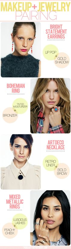 Makeup & Jewelry Pairing