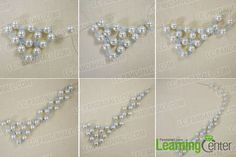 Thread beads to shape fashion beaded pearl necklace