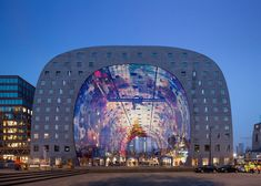 Markthal Rotterdam, the covered food market and housing development shaped like a giant arch by Dutch architects MVRDV, has officially opened today after five years of construction.