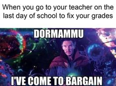 Dormammu I've Come To Bargain