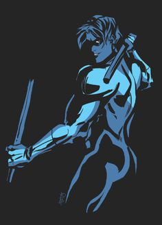 Dick Grayson, Nightwing- http://inkydandy.tumblr.com/post/156743135134/some-stuff-ive-been-doing-to-practice-with-stark