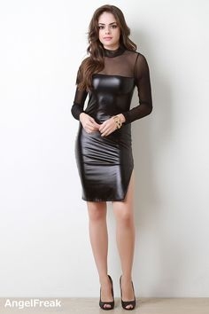 Trendy Dresses, Tight Dresses, Women's Fashion Dresses, Sexy Dresses, Nice Dresses, Mode Chic, Latex Dress, Leather Dresses, Hot Dress