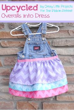 Overall Dress Tutorial - make a dress from an outgrown pair of overalls