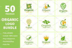 Organic Logo, Creative Photoshop, Slogan, Presentation, Templates, Colour, Easy, Free, Color