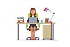 Clerk working at her office desk  @creativework247