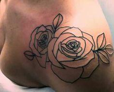 Halsey rose tattoo