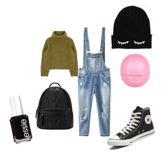 """""""Simply e easy"""" by carol131192 on Polyvore featuring bellezza, Relaxfeel, Converse, River Island e Essie"""