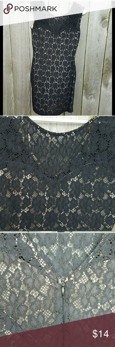 My Michelle nude black lace overlay dress This beautiful dress was only worn a few times and is in like new condition. The bust measures at 19 inches across and the length is 38 inches. My Michelle Dresses