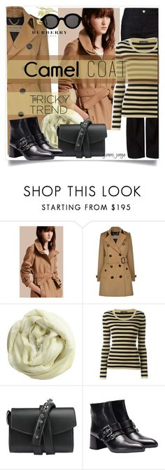 """""""Tricky Trend - Camel Coat"""" by goreti ❤ liked on Polyvore featuring Burberry, Faliero Sarti, Dolce&Gabbana, Loes Vrij, Prada, Mykita and camelcoat"""