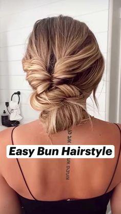 Easy Bun Hairstyles, Pretty Hairstyles, Dance Hairstyles, Protective Hairstyles, Hair Day, New Hair, Hair Upstyles, Easy Hairstyles For Long Hair, Summer Hairstyles