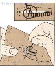 Todo tipo de costura necesita siempre alguna que otra puntada a mano, es esencial manejar de forma competente la aguja y el hilo.