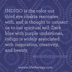 Discover your #intuitive side with the magical color of #indigo.
