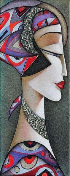 Anaïs by Wlad Safronow. (Oil Canvas)