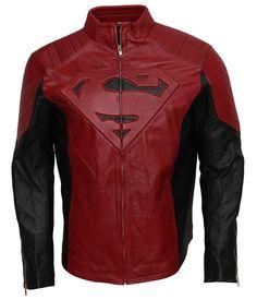 Leatherobe Super The Man Comic Superhero Cosplay Red Black Faux Leather Costume Jacket Superman Outfit, Superman Cosplay, Superman Costumes, Superhero Cosplay, Designer Leather Jackets, Faux Leather Jackets, Mundo Superman, Superman Comic, Black Celebrities
