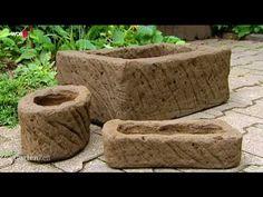 Tutorial: Pflanztröge selber machen mit Erde im Zement! Nachbearbeiten mit löffel und drahtbürste!