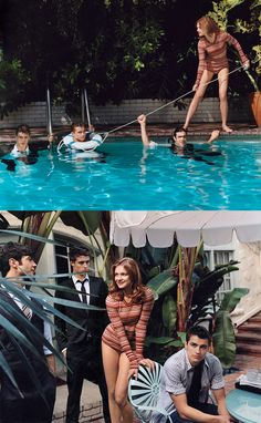 GUEST BOOK / Natalia Vodianova, Max Irons, Dave Franco and Ethan Peck partying at the Marmont pool.