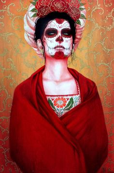 The work of contemporary Los Angeles-based artist Sylvia Ji speaks to the Día de los Muertos tradition by using images based on Mexican calacas.