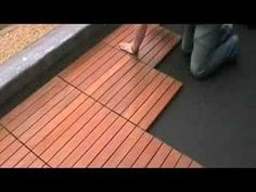 Wood Tiles For Patio Shantex Eco Tile System