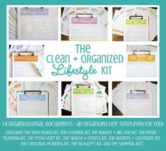An Organized Life Simplified For YOU!  Clean Mama Printables