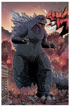 A few years back, Orc Stain artist (and io9 favorite) James Stokoe did a short concept piece titled World War G, in which Godzilla trashes Tokyo in Stokoe's grimy-gorgeous, hyper-detailed fashion.