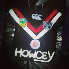 Howcey received this sweet Vodafone Warriors inspired birthday cake #Warriors #Cake #BirthdayCake #Jersey #NRL