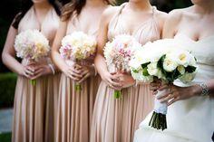 The ultimate Goddess dress in our signature Light Champagne colour #goddessbynature #cocktaildress #1dress50ways #lightchampagne #bridalparty #wedding #multifunctionaldress