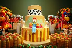 bolo de aniversario cocorico