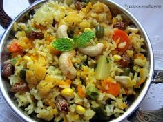 Vegetable Pulao Recipe with Step-By-Step Pictures