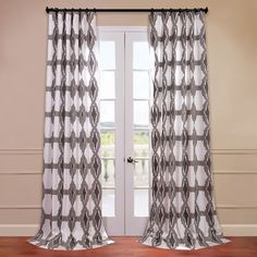 Found it at AllModern - Sorong Printed Cotton Semi-Opaque Single Curtain Panel