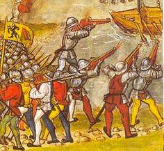 The battle on Zürichsee 1460-1480 from Diebold Schilling der Jüngere: Amtliche Luzerner Chronik von 1513. - Thanks to Andrej Pfeiffer-Perkuhn